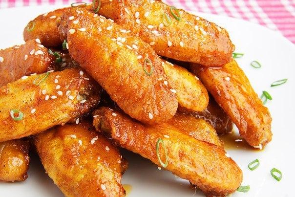 Куриные крылышки в медово-соевом соусе. Куриные крылышки в