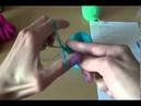Вязание пинеток спицами Шаг 1 Knitting bootees spokes Step 1