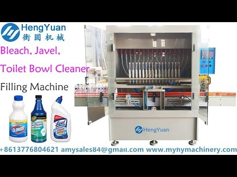 Anti corrosive toilet bowl cleaner bottle liquid filling MC bleach javel bottling machinery
