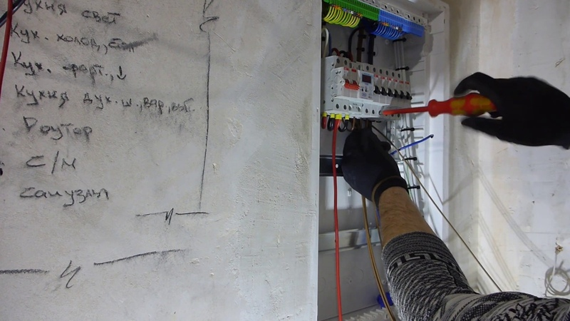 Процесс сборки электрического щита.The process of assembling the electric shield.