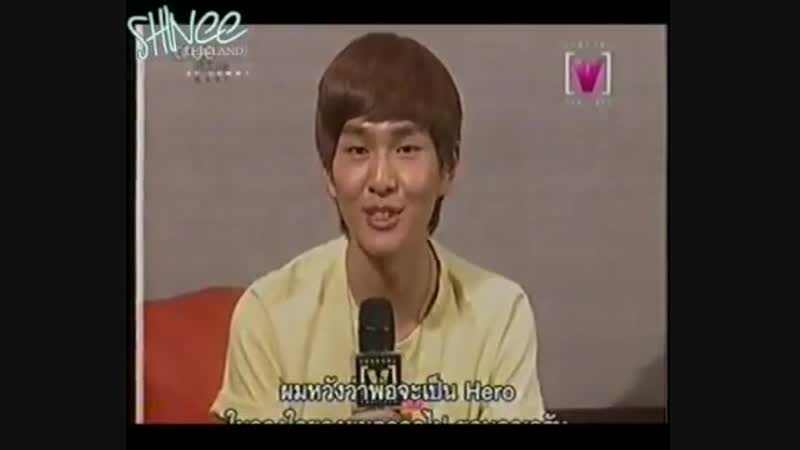 090113 SHINee on channel v thailand asian hero - onew taemin jonghyuns song and hero