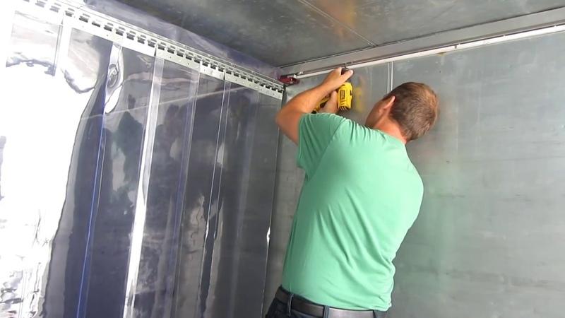 ПВХ завесы морозостойкие для термобудок