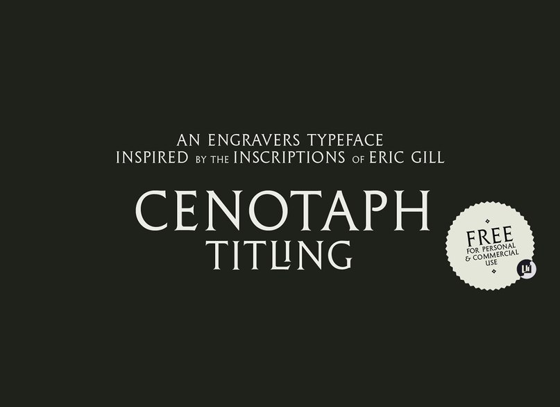 шрифт Cenotaph Titling