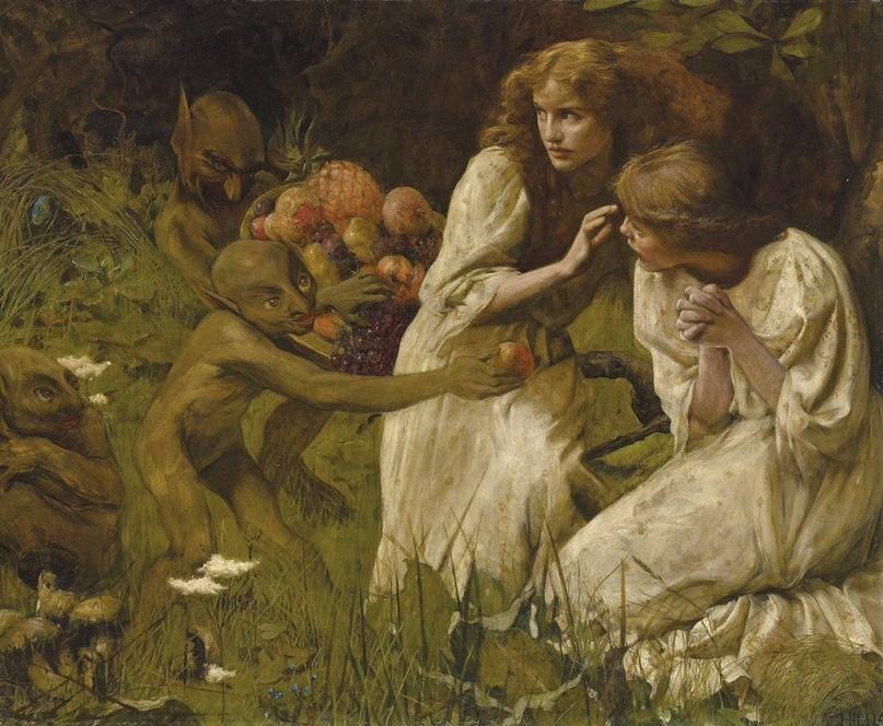 """Художник : Hilda Koe . """"Рынок гоблинов""""/""""The Goblin Market"""" (c. 1899)"""