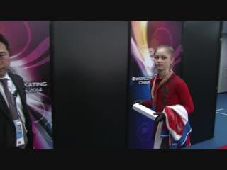 [Р] Юлия Липницкая - короткое интервью после церемонии награждения ЧМ 2014 Lipnitskaya リプニツカヤ