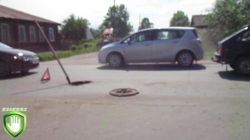 ДТП на ул.К.Маркса. г.Белозерск 16.06.2018 г.