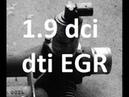 Wymiana czyszczenie EGR 1 9 dti dci cdti Vivaro Trafic Laguna Megane Clio Kangoo F9Q F8T p0400
