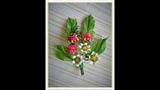 Малина.Атласные ленты 2. Raspberries. Satin ribbons.2