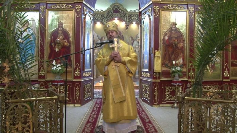 Проповедь епископа Максима в Казанском соборе города Лебедяни