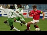 Крутой гол Брайана Лаудрупа | Саудовская Аравия - Дания