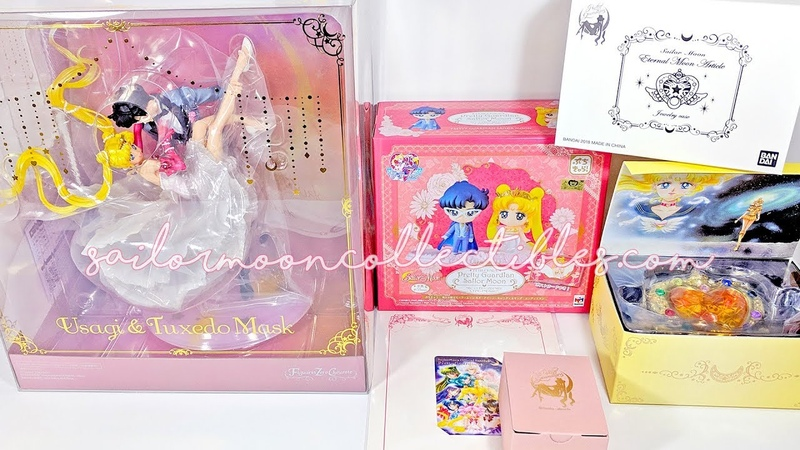 Unboxing Sailor Moon Toys Usagi Tuxedo Mask Dancing Figure, Eternal Compact More
