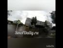Потоп в Смоленске 14.07.18. Вытягивают рукам автомобиль из лужи
