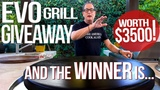 THE WINNER OF THE $3500 EVO GRILL IS.... SAM THE COOKING GUY