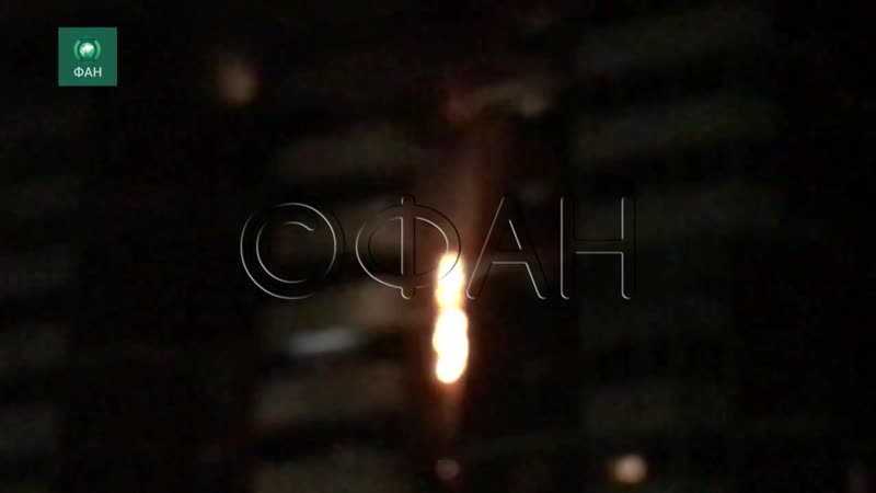 Жилой дом горит в Екатеринбурге ФАН публикует видео с места ЧП