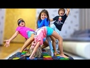 Почему Детям СТАЛО СКУЧНО ПАПЫ Придумали для Детей НОВЫЙ ЧЕЛЛЕНДЖ Твистер в Слепую