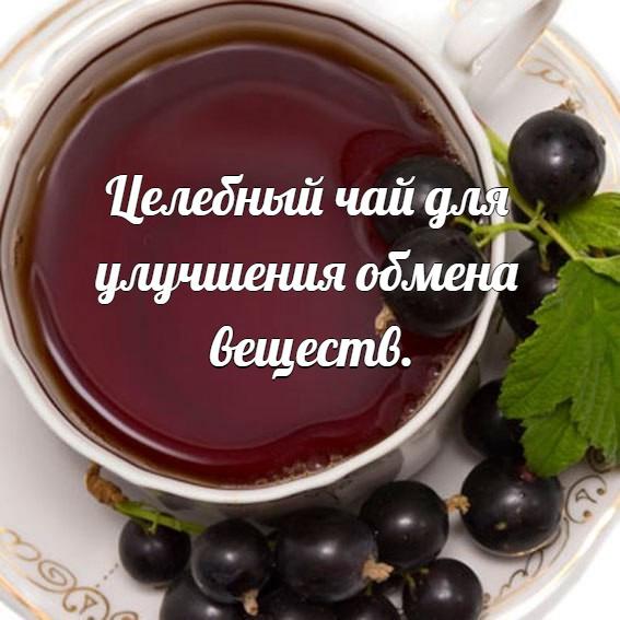 Целебный чай для улучшения обмена веществ.