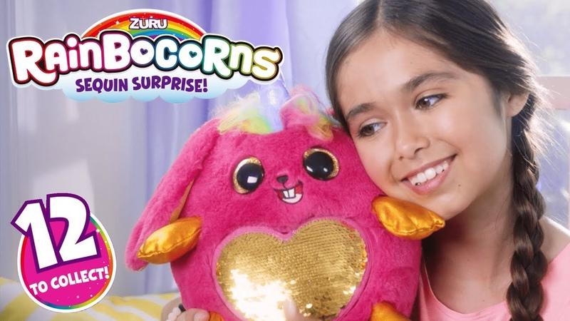 NEW from ZURU - RAINBOCORNS | Sequin Surprise Plush Toy | Toys for Kids