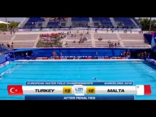 Водное поло - ЧЕ - Чемпионат Европы. Мужчины 24-июл Турция - Мальта основное время 7-7 (пенальти)