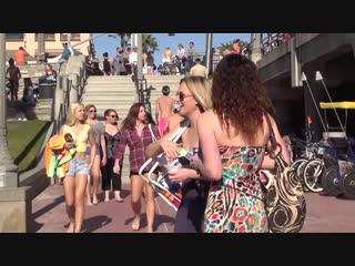 FARTING AT THE BEACH __ Pooter Prank __ PRANK on California Girls
