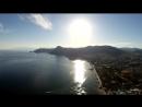 Крым судак побережье вид сверху полет над побережьем Судак