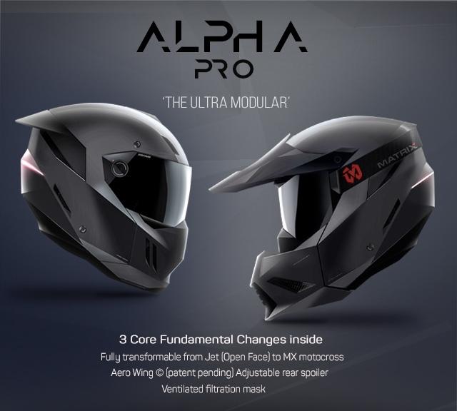 Мотошлем Martrix Alpha Pro