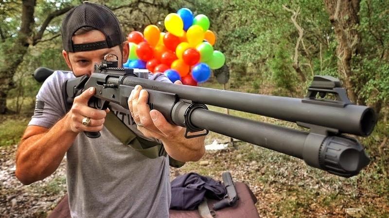 Лучшее ружье для защиты дома Benelli M4 Разрушительное ранчо Перевод Zёбры