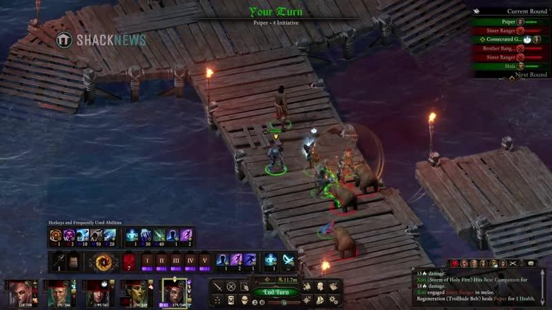 Pillars of Eternity 2 Deadfire Turn based mode gameplay