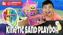 Kinetic Sand and Playdoh In One - Zephir Kinetic Playdough -Keelan Toy Review ok4kidstv