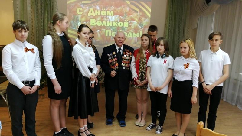 Воспоминания Леднева Николая Михайловича о Битве под Москвой на мероприятии посвященном Дню Победы май 2018