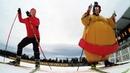 Sumo skiing - Klæbo vs. Ramm