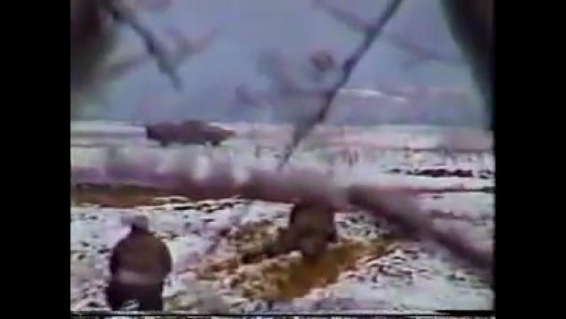Первая чеченская война.1994-1996.Неудачная засада на БТР ВС РФ