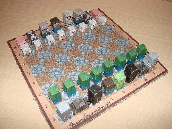 Как сделать своими руками шахматную доску из картона 42