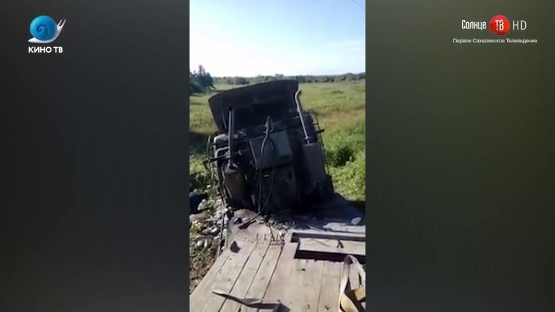 20.08.2018 В Макаровском районе столкнулись два большегруза