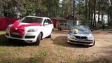 Свадьба Сергея и Зарифы 14.09.2018, белый Audi Q7 и кабриолет BMW 3 @auto-na-prokat.ru