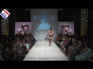 Fashion Weekend Plus Size 2016 - Plus Size Lingerie Fashion Show - Plus-Size Ladies On The Runway .