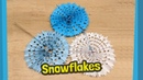 Paper Snowflakes made from two pieces of paper Easy to make at home