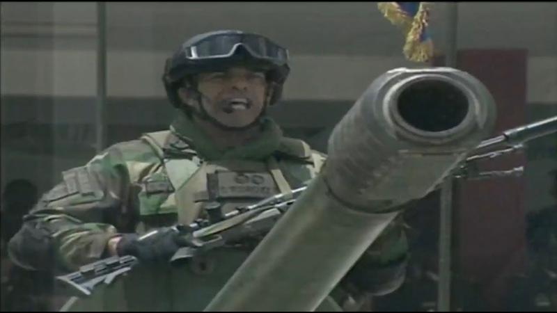 Presidente Maduro. Indepenencia Venezuela. Desfile Fuerza Armada Nacional Bolivariana (FANB)