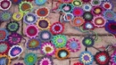 How to crochet flowers to make a colorful throw - by ARNE CARLOS - RERUN