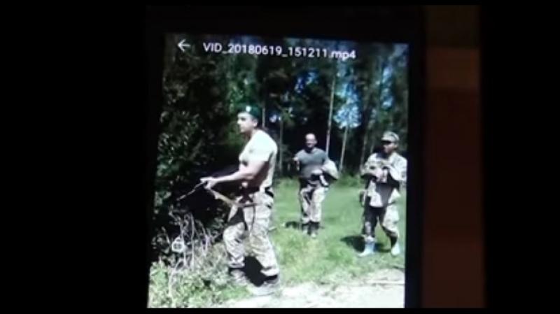 Відео конфлікту між прикордонниками та порушниками кордону