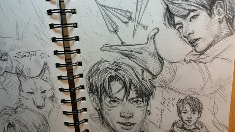 BTS fanart sketches by SakuTori