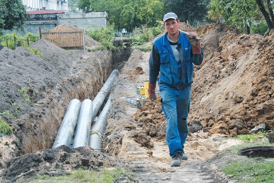 Неманские вести: На новой теплотрассе трава зимой не прорастет