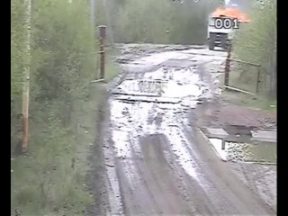 Russian garbage truck carries debris into hell