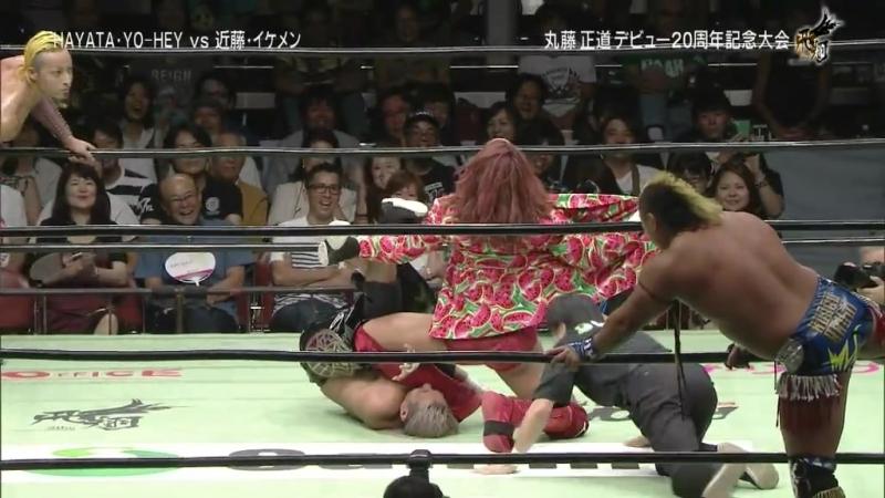 HAYATA, YO-HEY vs. Jiro Kuroshio, Shuji Kondo (NOAH - Naomichi Marufuji 20th Anniversary Show ~ Flight)