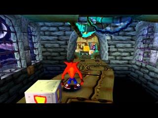 Юзя проходит последние уровни Crash Bandicoot, попивая сок вместе с Гагатуном у себя на районе