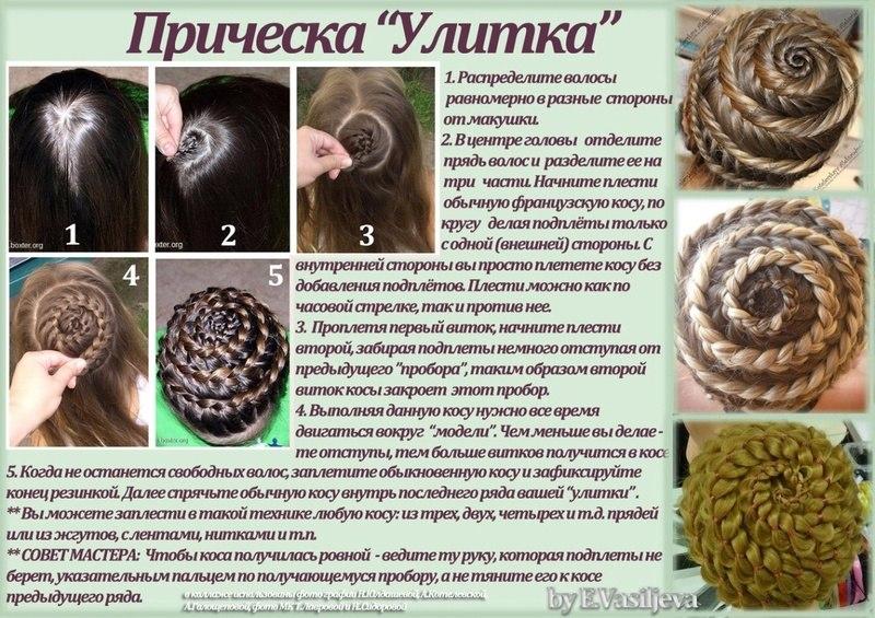 Фото схема плетения косичек для начинающих