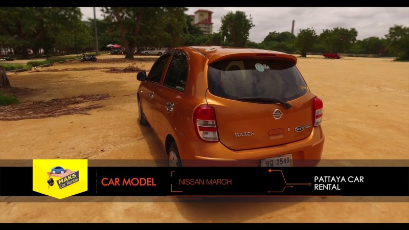 Nissan March for rent in Pattaya, Thailand