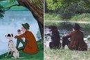 Пара воссоздала сцену знакомства из «101 далматинца» в своей предсвадебной фотосессии