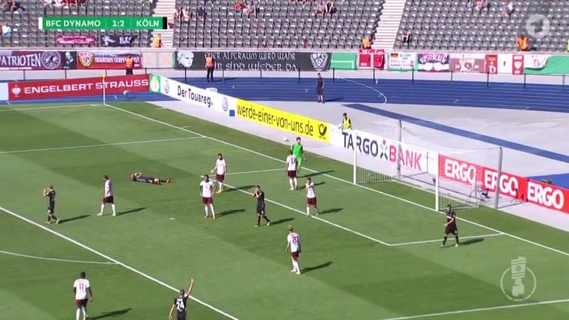 Обзор матча Динамо Берлин Кёльн 1 9 Кубок Германии 18 19 1 раунд
