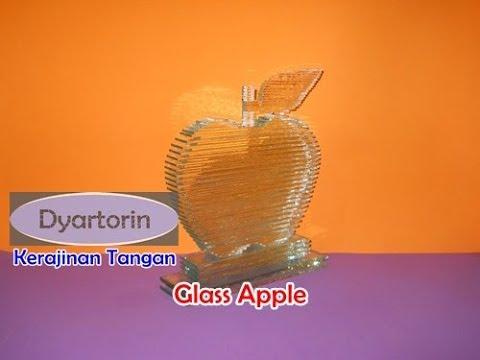 Kerajinan Tangan Unik   Kreasi Hiasan Apel dari Kaca Limbah   Glass Craft
