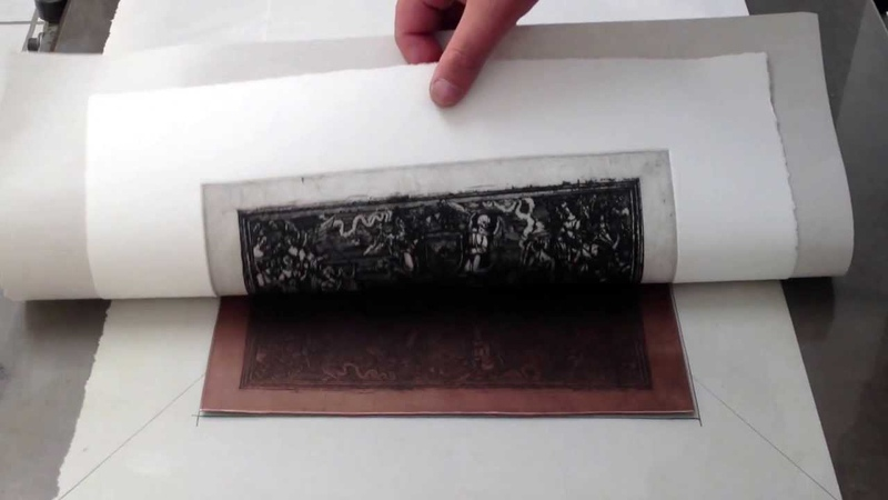 Etching printing of The Devil's Arch